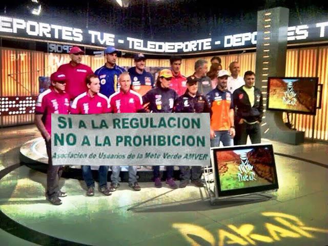 Pilotos Dakar 2014 Protestan en RTVE